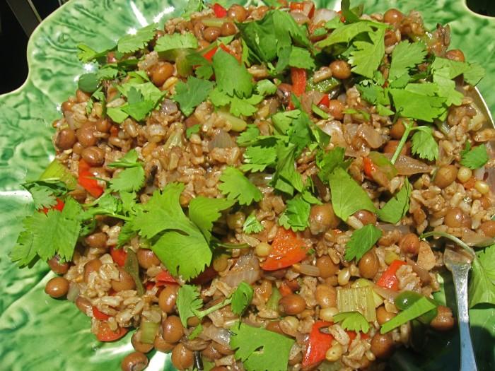 Caribbean pigeon peas and rice